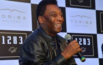 Pele launches book